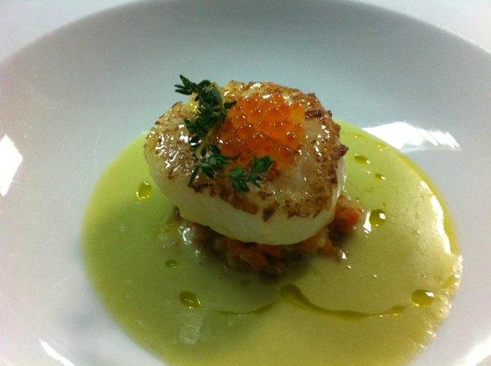 Murri Restaurante: Vieira en gazpacho de tomates veredes