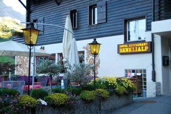 Hotel-Restaurant Banklialp: Hotel Bänklialp Eingang
