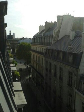 Montpensier : view from our room towards the Louvre
