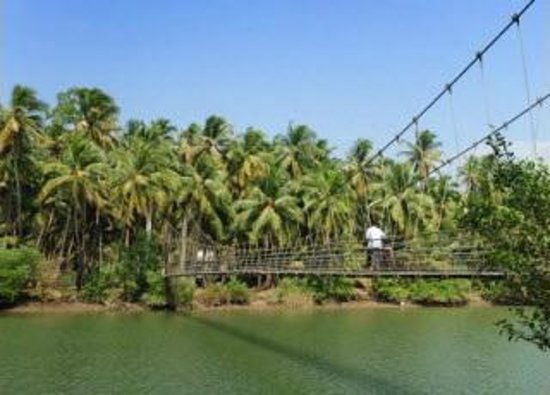 Udupi, India: Kemmannu Hanging Bridge