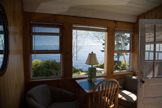 Beloin's on the Maine Coast: View from the inside the cabin