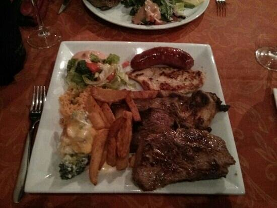 Nestor's: I took the mixed grill challenge.