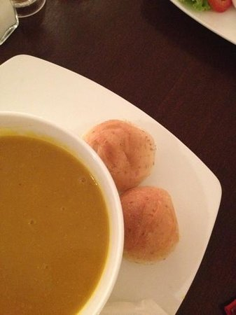 Java Cafe & Gallery: pumpkin/carrot soup