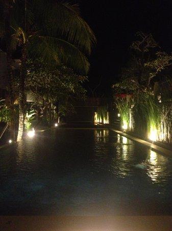 Abi Bali Resort & Villa: main pool at night