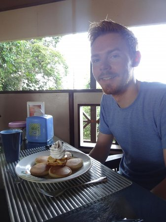 The Last Frontier Boutique Resort : yummy pancakes for breakfast