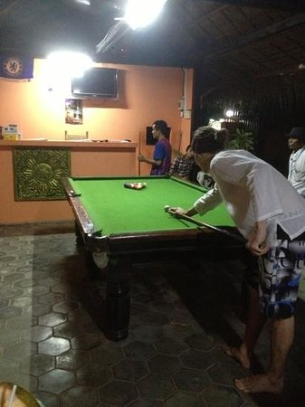 Angkor Secret Garden Hotel: playing pool!
