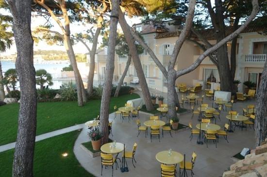 Hotel La Residence de la Pinede: terrace