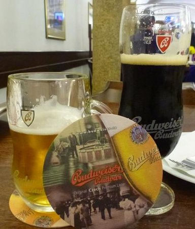 Budvar Brewery: Chose the classic and the dark - we preferred the latter but both were better than U.S. Budweise