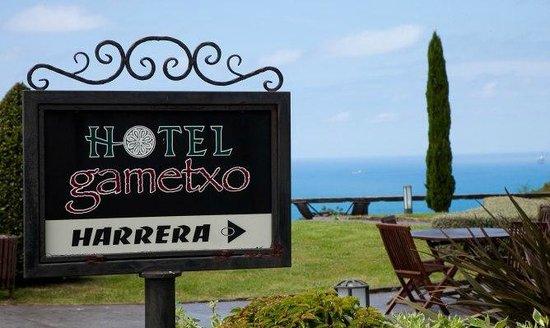 Hotel Gametxo: CARTEL JARDIN