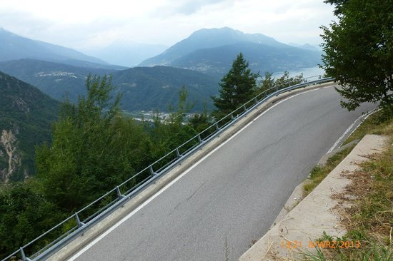 Caldonazzo, Italie: Ostre podjazdy, piękne widoki