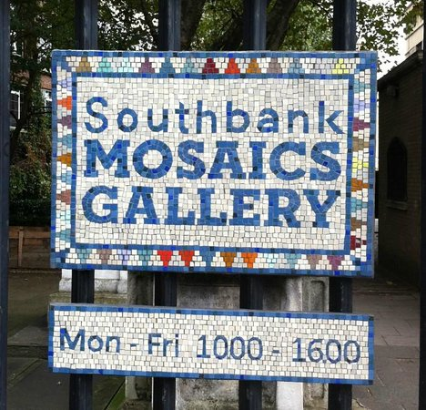 Southbank Mosaics Gallery sign