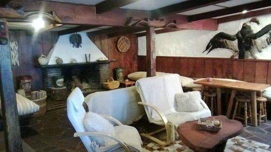 Hotel Posada de Farellones: Espaço com lareira e ótimo para uma boa conversa