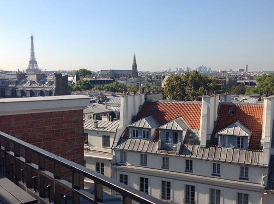View from Hotel Pont Royal penthouse balcony