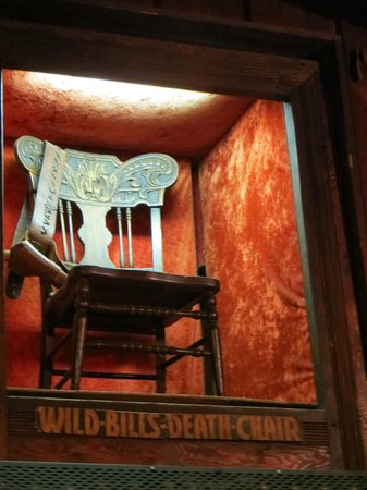 The Deadwood Social Club: Wild Bill Chair one of the many artifacts