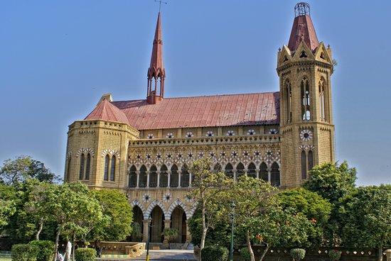 Back side view of Frere Hall.