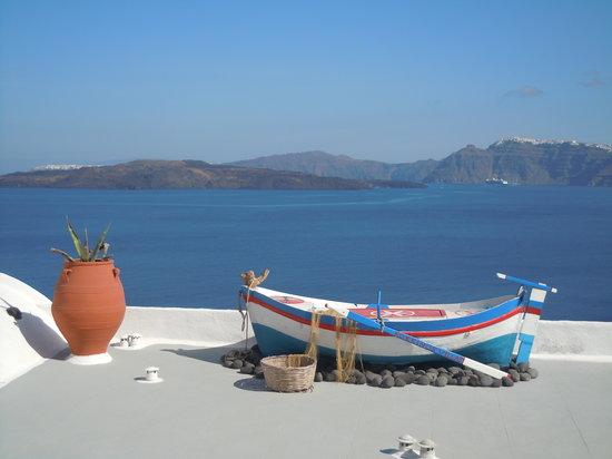 Kokkinos Villas: vue de la terrasse du Kokinos