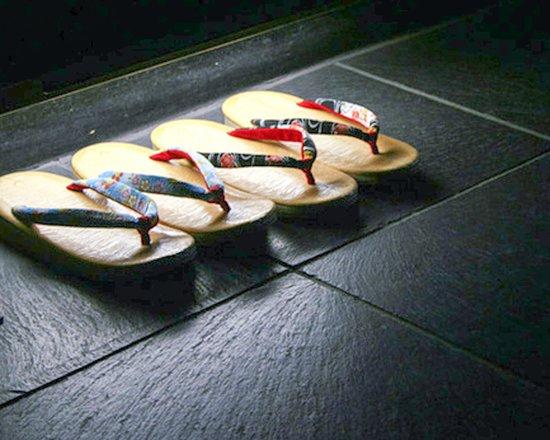 complimentary slippers at Andon Ryokan