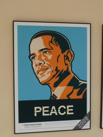 The Nobel Peace Center: poster Obama