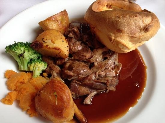 The Bull Inn, Stanford Dingley: roast lamb ( plenty more veg not shown!)