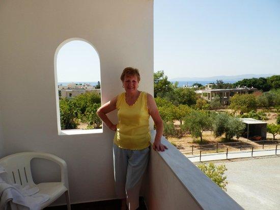 Maria Apartments Pefkos : Apt 8 main balcony