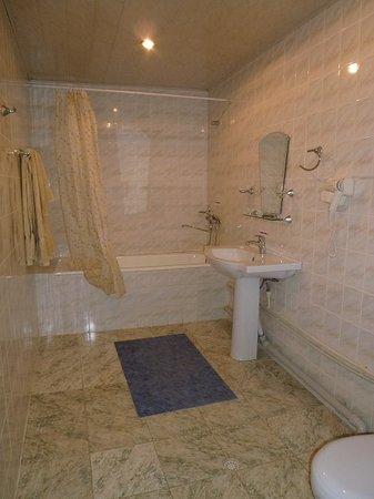 Malika Hotel Khorezm : バスルーム