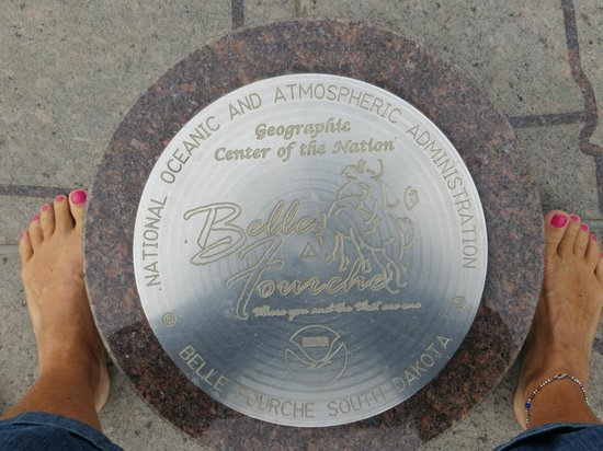 Center of the Nation Monument: Standing on the marker for center of the USA!