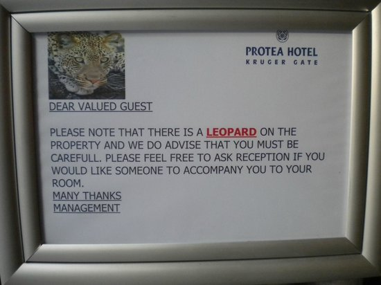 Protea Hotel by Marriott Kruger Gate: avviso per i clienti