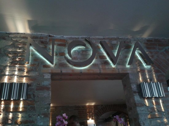 Restaurant Nova: particolare vicino alla cassa