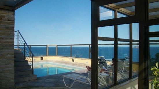 Hotel Marina Palace Rio Leblon : Piscina e vista