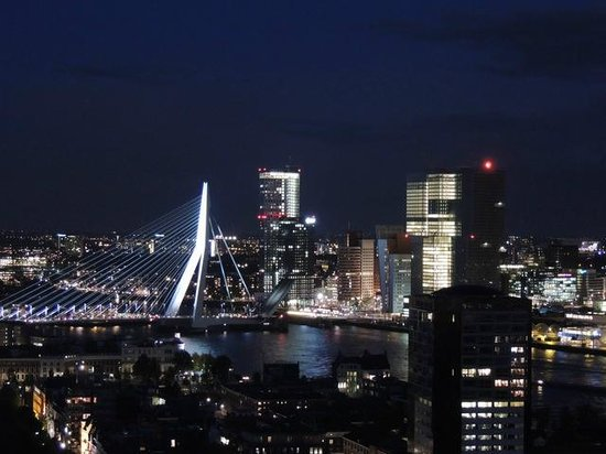Euromast Tower: Blick auf das nächtliche Rotterdam