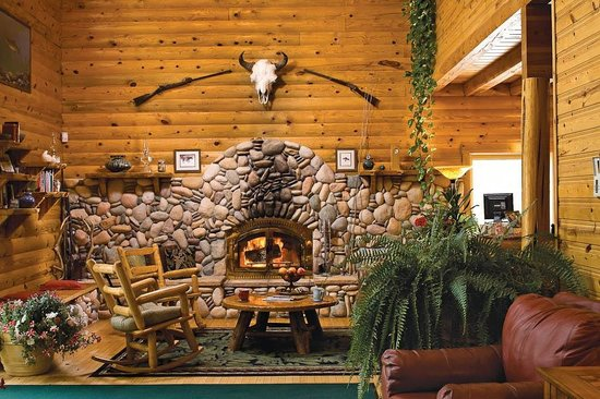 Forrester's Bighorn River Resort: Cozy up to the fire in our main lodge