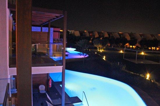 Atlantica Aegean Park : Night shoot of private pools