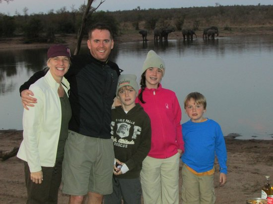 Honeyguide Tented Safari Camps: Sharing the sunset with some elephants