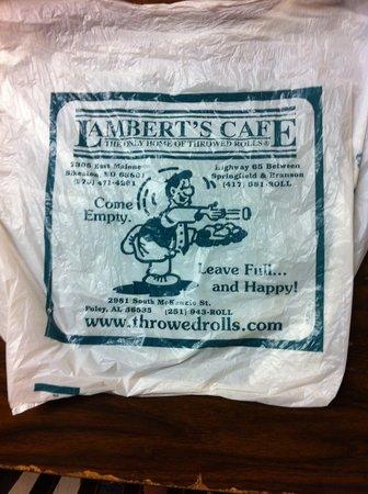 Lambert's Cafe: Togo Bag