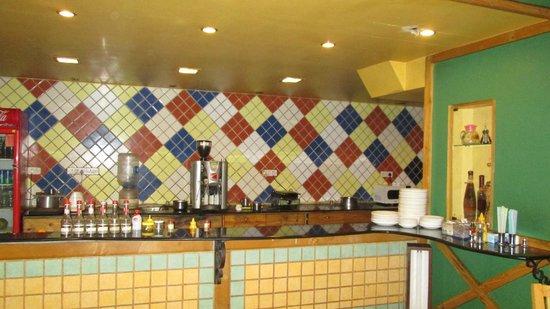 Nahar Sidewalk Cafe: Kitchen section