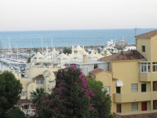 Hotel Palmasol: View of marina from my balcony