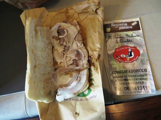 Hosteria del Panino: Porchetta sandwich