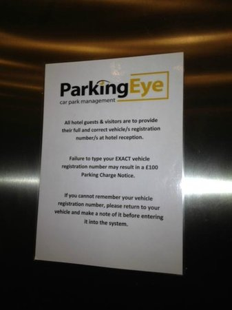 Holiday Inn Express London - Heathrow T5: Obnoxious parking signs everywhere