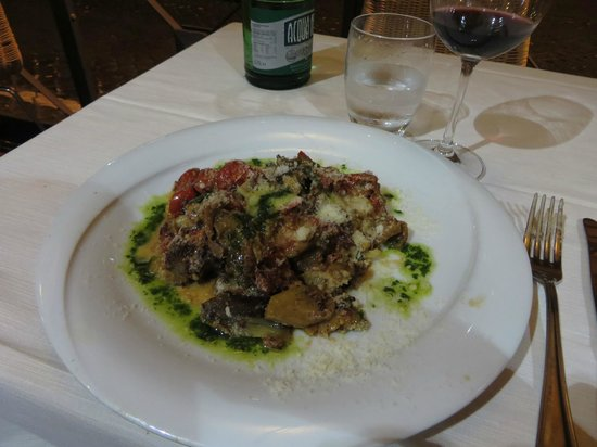 Osteria dell'Arco: Their take on eggplant parmesan....the best