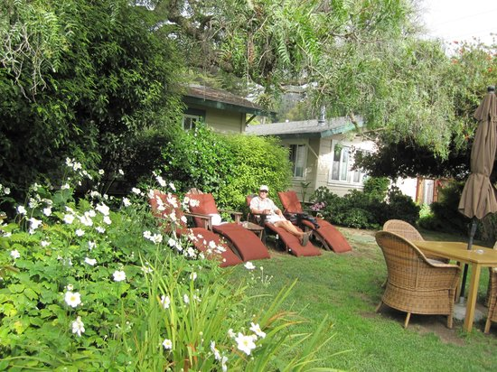 Sandpiper Lodging: Relaxing garden area