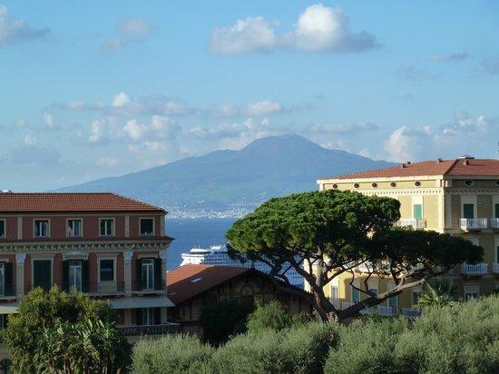 Hotel Palazzo Guardati : View of Vesuvius from roof terrace/pool