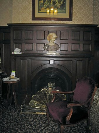 Hotel Marie Rollet: Fireplace in Room 1