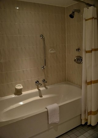Newcastle Gateshead Marriott Hotel MetroCentre: decent size bath and shower