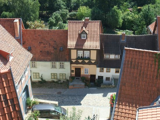Altstadt Quedlinburg: A view looking down to old houses in the Old Town