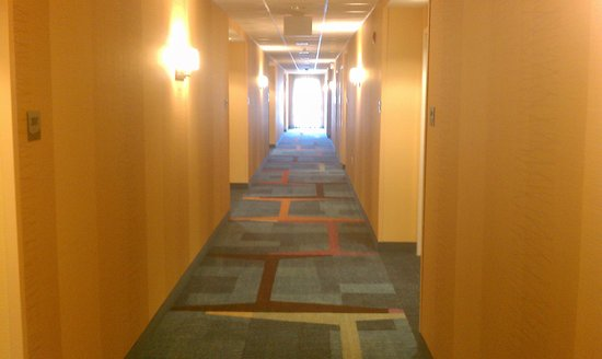 Fairfield Inn & Suites DuBois: looking down our hallway