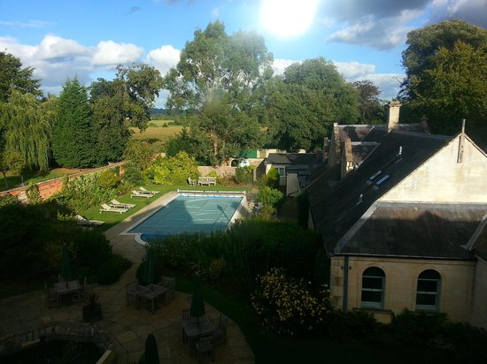 Beechfield House: View of gardens from room