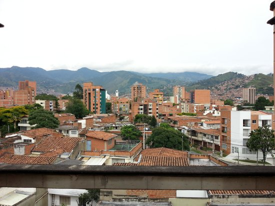 Hotel San Pedro del Fuerte: View of Medellín from the balcony next to my room.