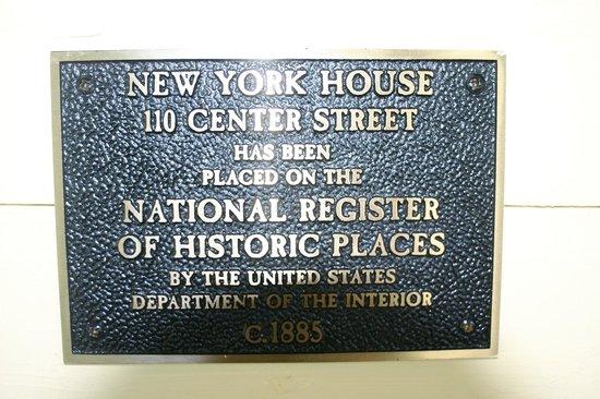 New York House Bed & Breakfast: Historical Designation