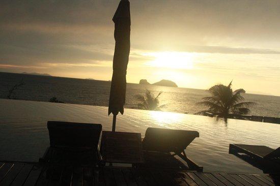 Conrad Koh Samui Residences: Sunset from room