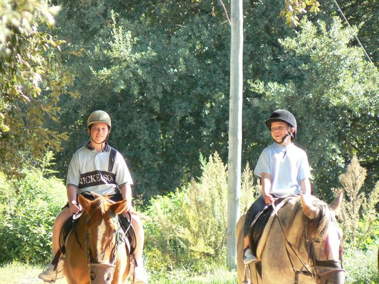 Albufeira Riding Centre: The Stables, Albufeira, countryside My two boys who at the time were beginners